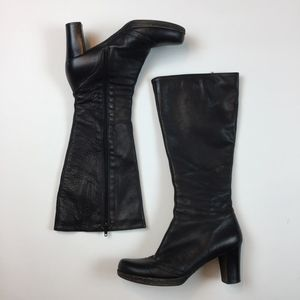 La Canadienne 19162 Black Leather Heel tall boots